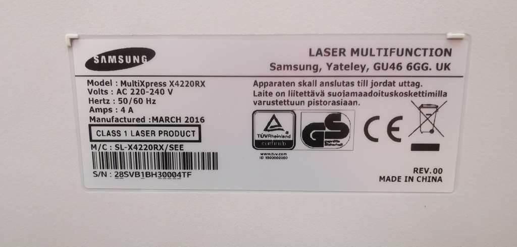 Samsung MULTIXPRESS X422ORX, Multifunctionals, Extra