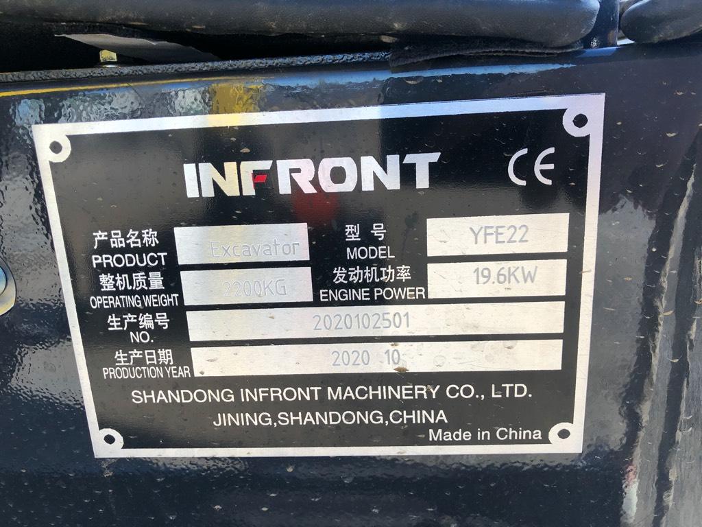 [Other] Infront YFE 22 // 2200 kg, Minibagger < 7t, Baumaschinen