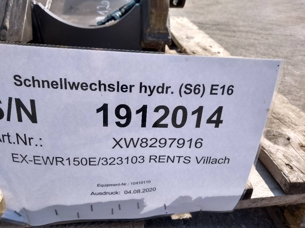 Volvo Schnellwechsler hydr. S6 E16, Quick Connectors, Construction Equipment