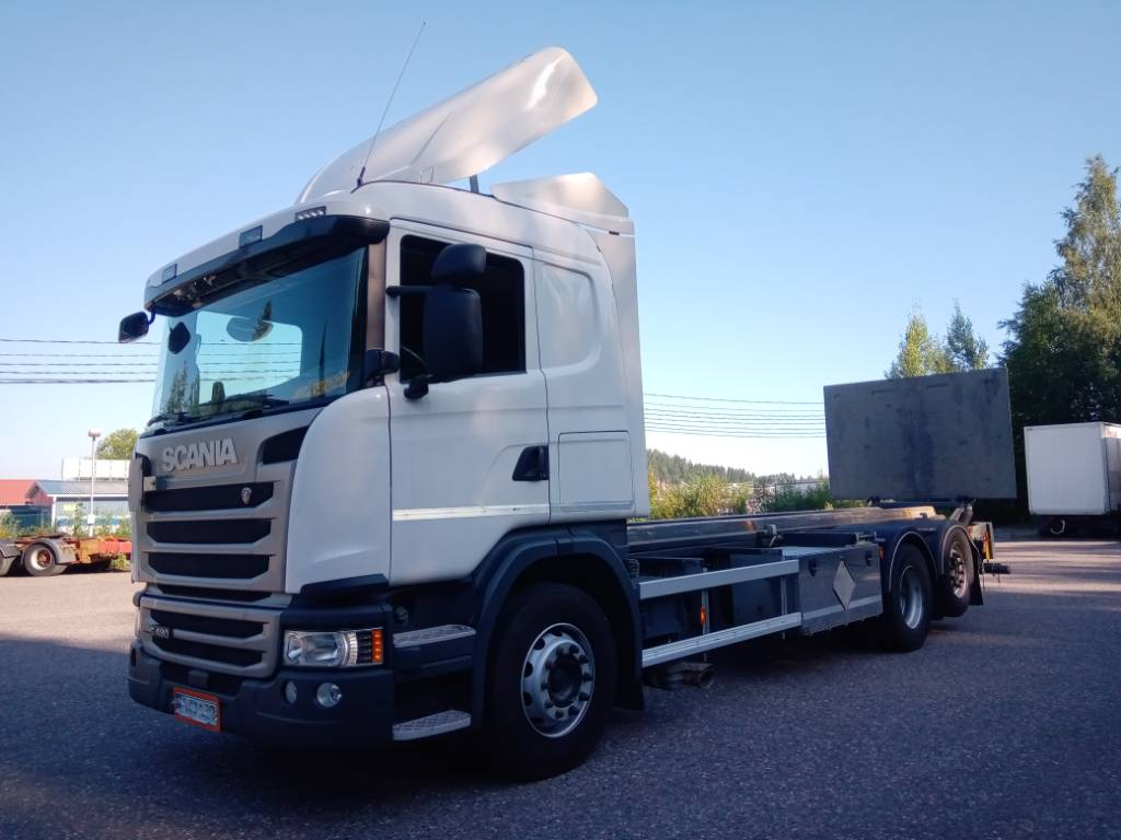 Scania R490 6x2 hydr.konttilaite+pl, Kontti-/tasonostoautot, Kuljetuskalusto