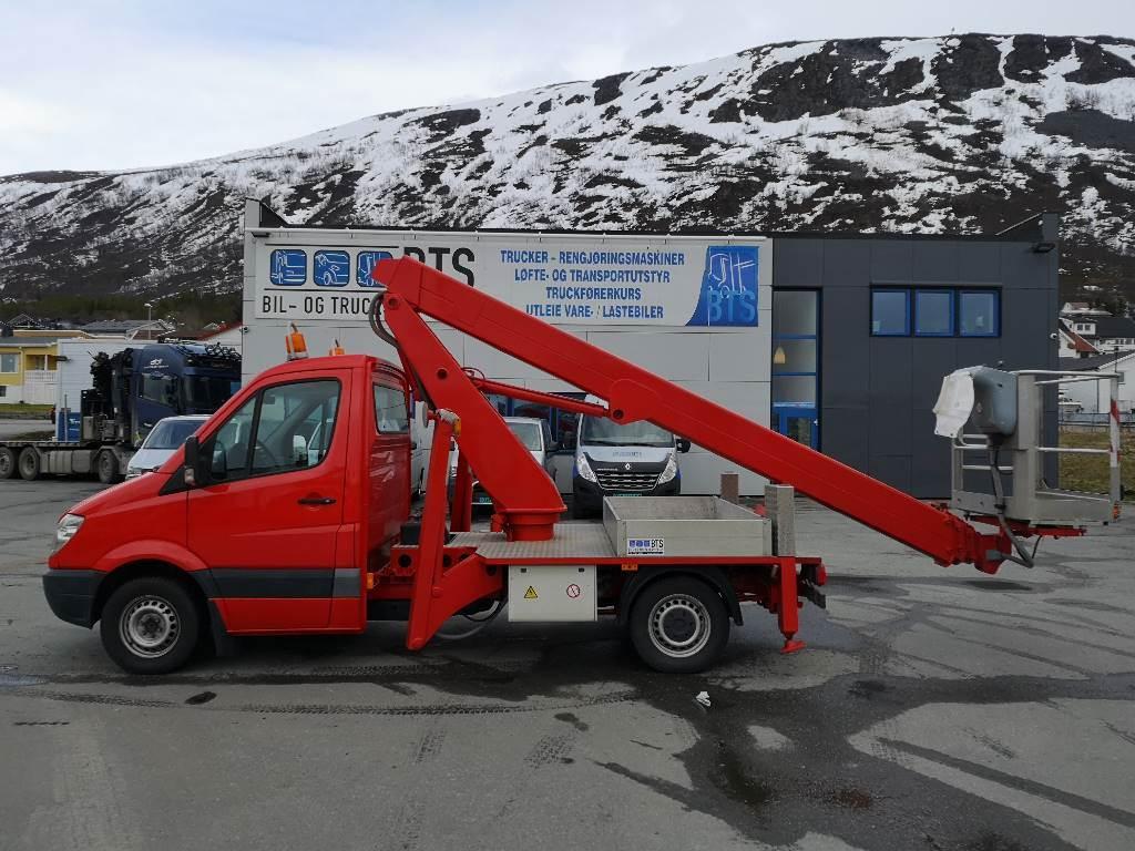 Mercedes-Benz Sprinter 313 CDI liftbil 22 m (Nannestad), Lastebilmontert lift, Anlegg