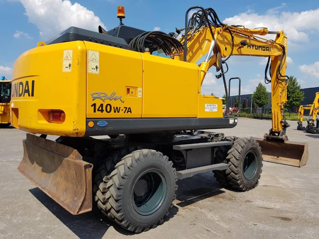 Hyundai Robex 140W-7 A, Wheeled Excavators, Construction Equipment