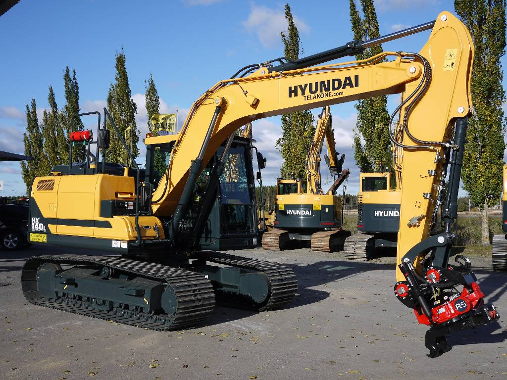 Hyundai HX 140 LC, Telakaivukoneet, Maarakennus