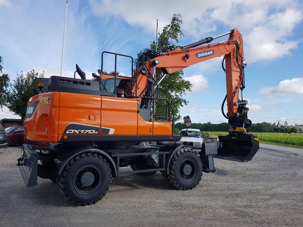 Doosan DX 170 W-5, Uthyres, Hjulgrävare, Entreprenad