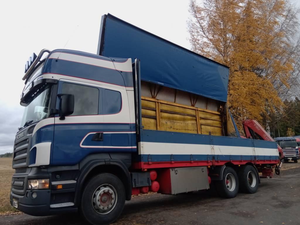 Scania R500 6x4 kääntökapelli+Fassi 150, Pressukapelli kuorma-autot, Kuljetuskalusto