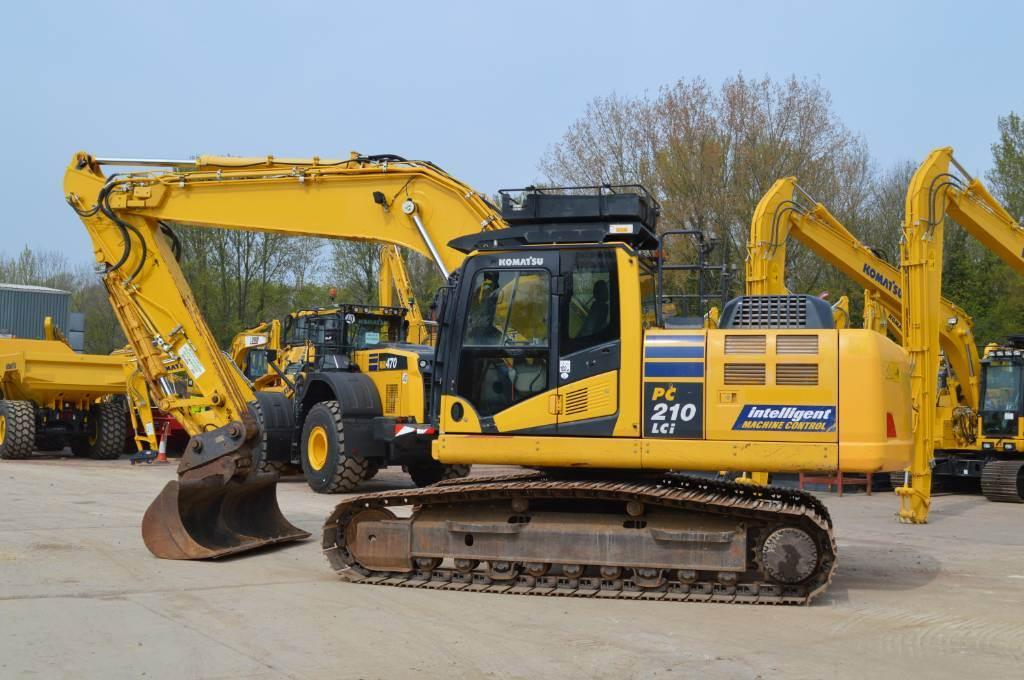 Komatsu PC210LCi-10, Crawler excavators, Construction