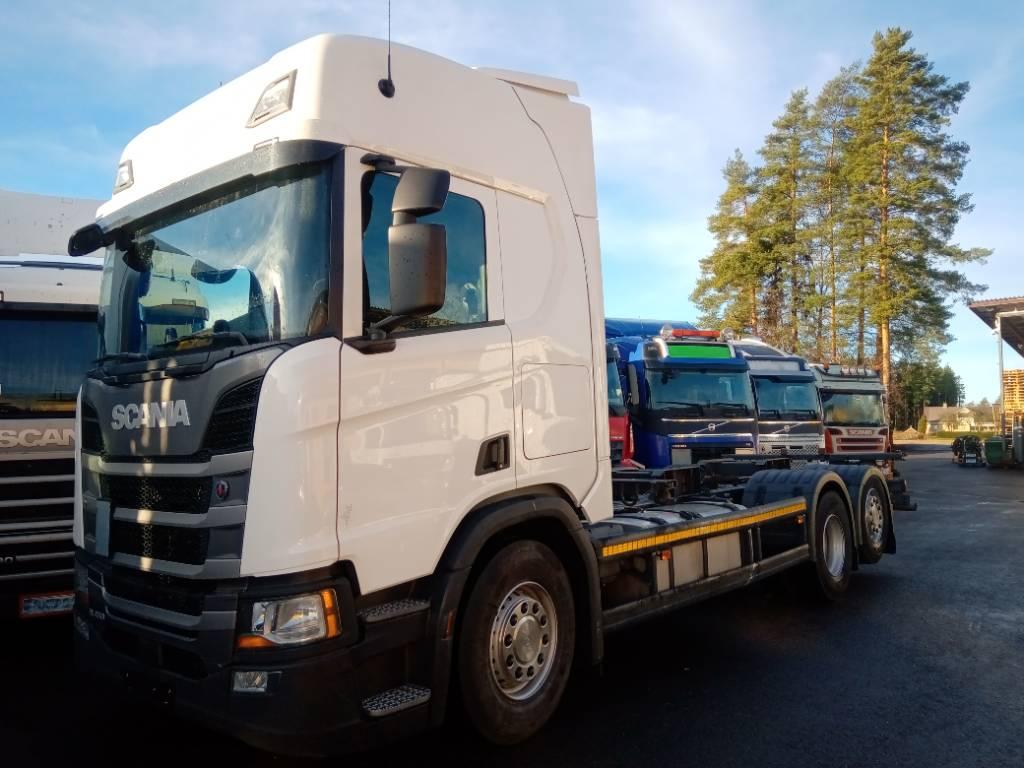 Scania R450 6x2 alusta,ohj.teli, aj.240tkm!!!, Kuorma-autoalustat, Kuljetuskalusto