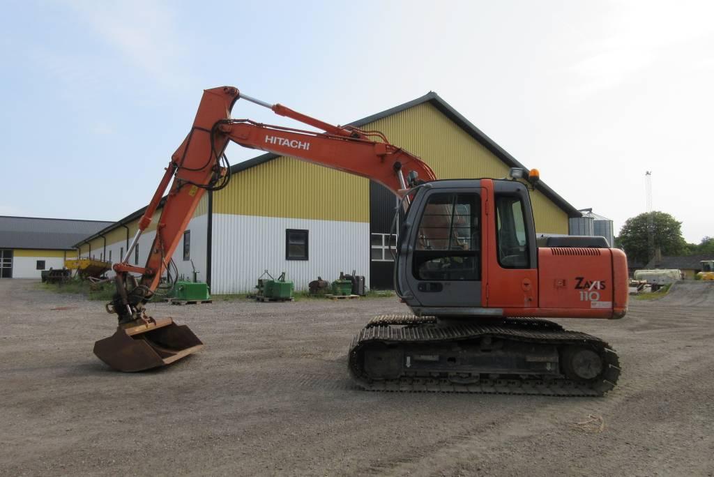Hitachi ZX110 grävmaskin, tiltfäste, 800 larver, Bandgrävare, Entreprenad
