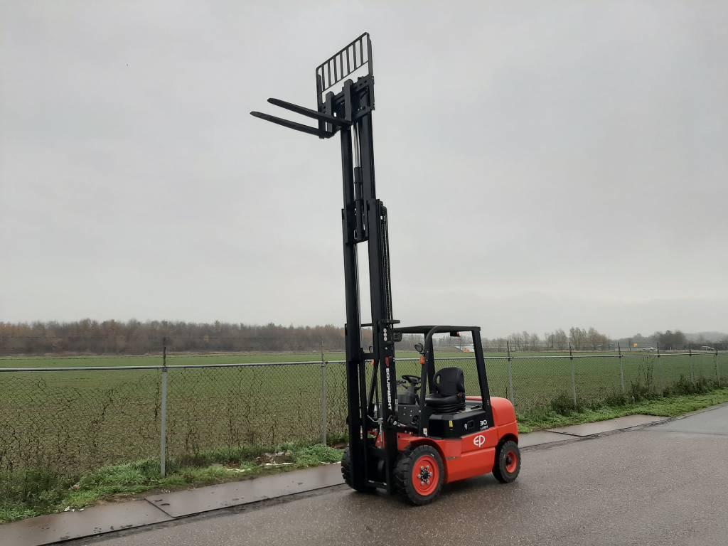 EP EFL302 Li-Ion 3T Forklift Triplex Side Shift, Elektrische heftrucks, Material Handling