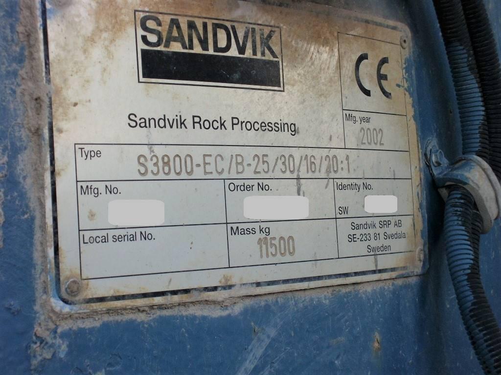 Sandvik S 3800-EC, Mobila krossar, Entreprenad