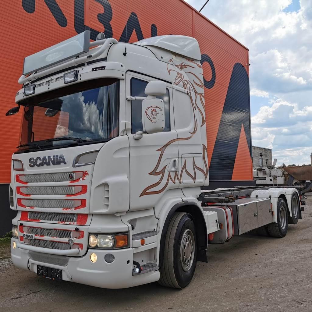 Scania R 560 6x2 Container carrier, Växelflak-/Containerbilar, Transportfordon