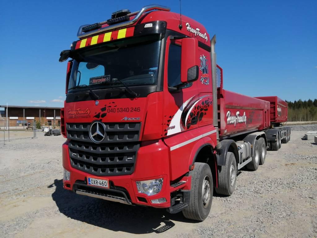 Mercedes-Benz Arocs 3763 + KasettiPV * ASIAKKAAN LUKUUN *, Dump Trucks, Trucks and Trailers