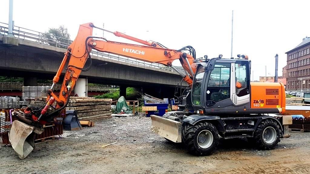 Hitachi ZX 140 W-3 Delvator Landvetter, Wheeled Excavators, Construction Equipment