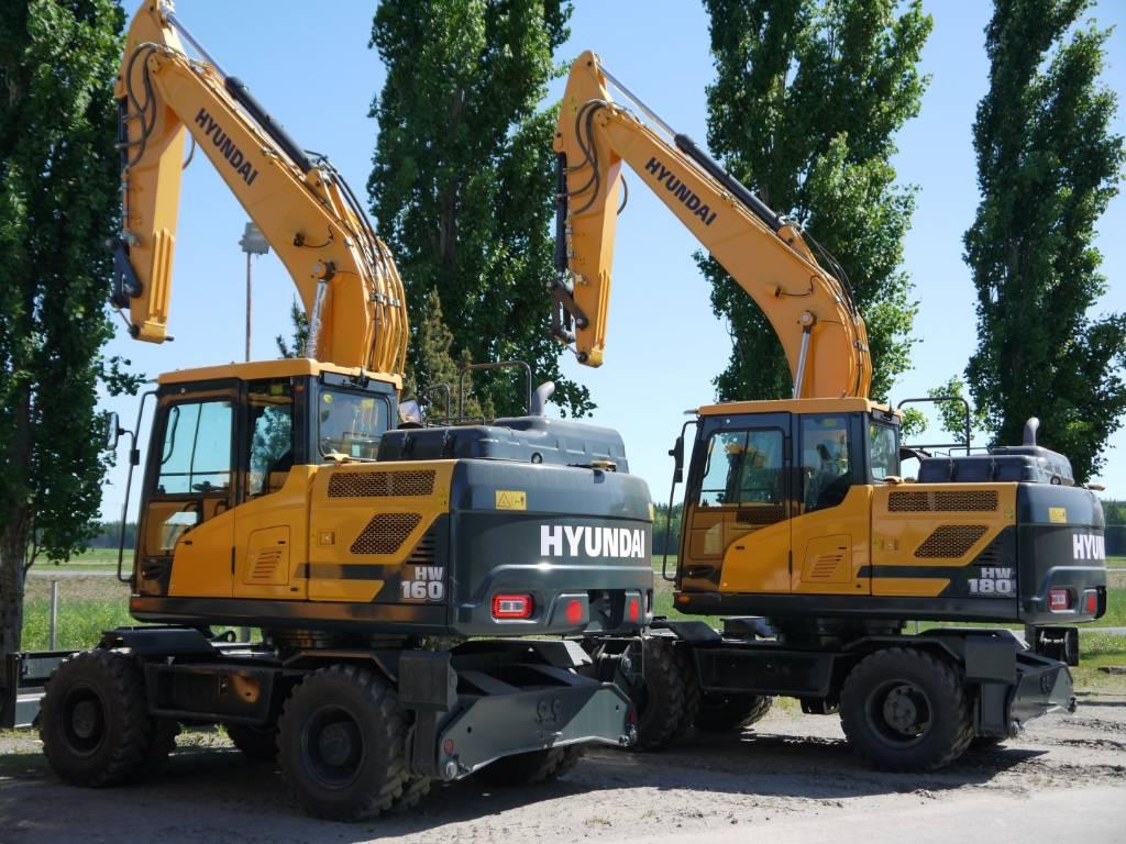 Hyundai HW 160, Pyöräkaivukoneet, Maarakennus
