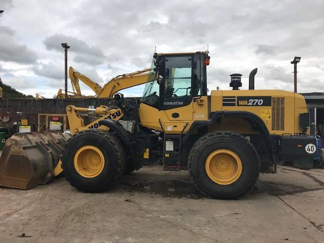 Komatsu WA270-7, Wheel loaders, Construction