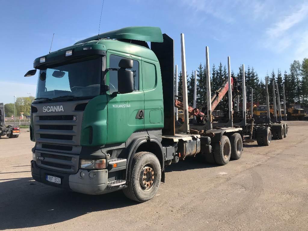 Scania R480 6X4, Metsaveokid, Transport