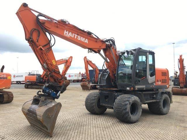 Hitachi ZX140W-3, Wheeled Excavators, Construction Equipment