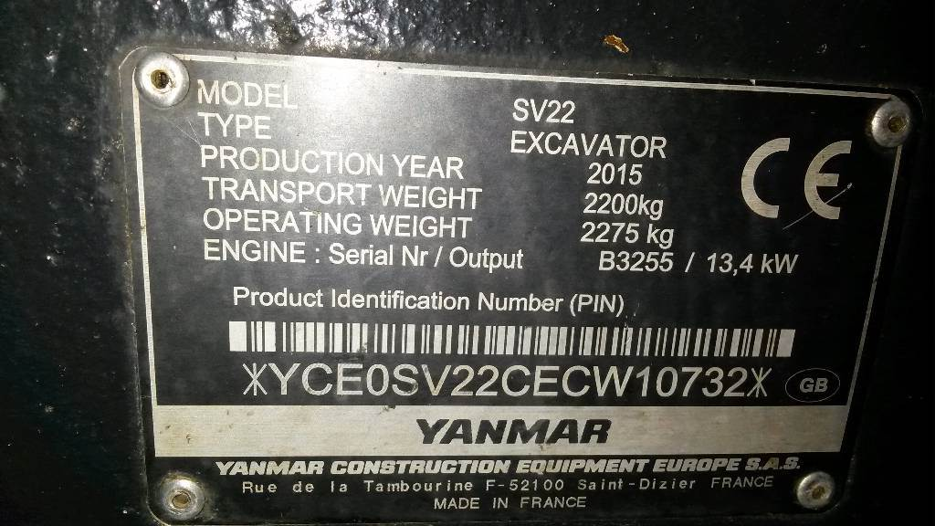 Yanmar SV22 - Mini excavators < 7t (Mini diggers) - Construction