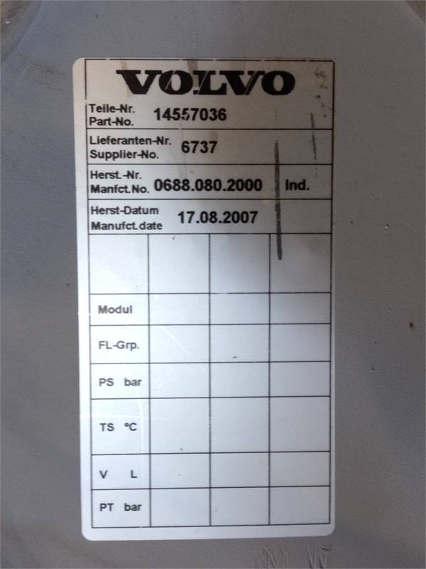 Volvo Radiator part-no 14557036, Muut, Maarakennus