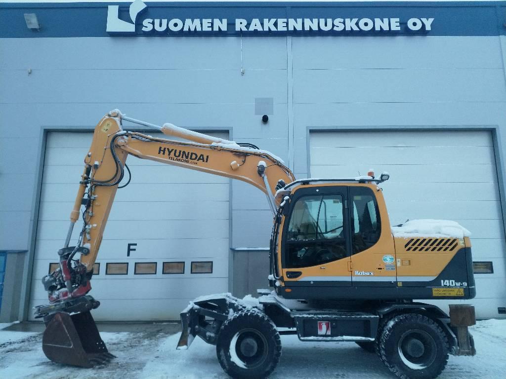 Hyundai Robex 140 W-9, Wheeled Excavators, Construction Equipment