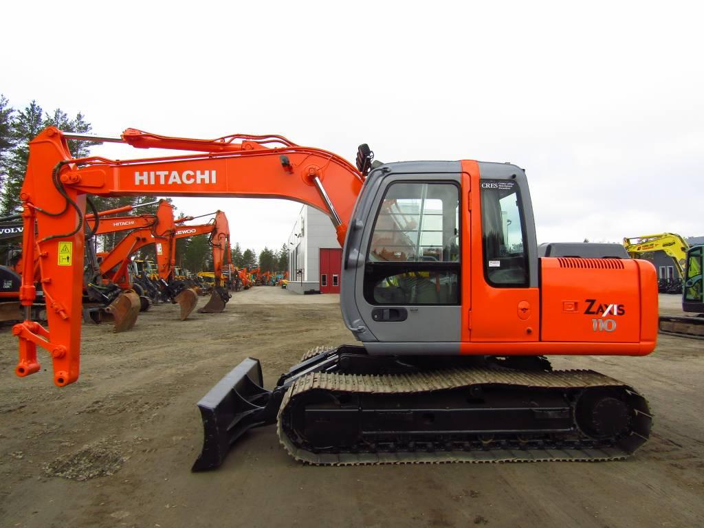 Hitachi MYYTY! SOLD!  ZX110 PUSKULEVYLLÄ, Midikaivukoneet 7t - 12t, Maarakennus