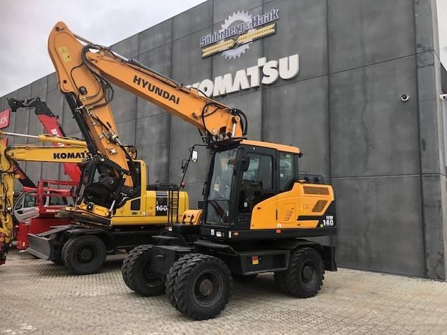 Hyundai HW140, Wheeled Excavators, Construction Equipment