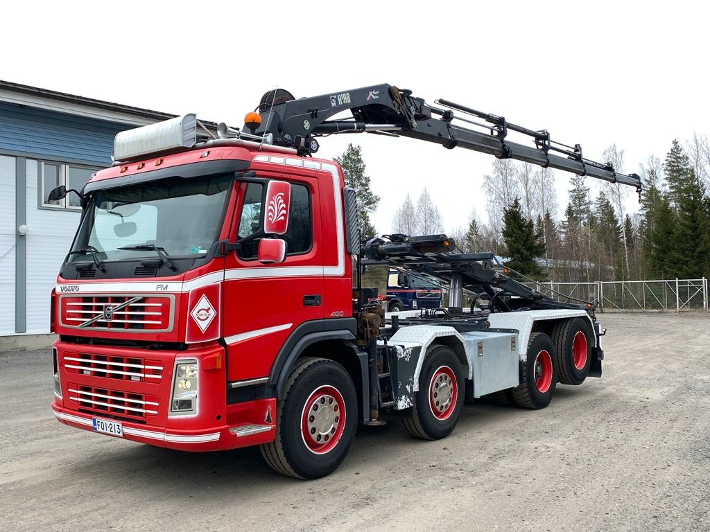 Volvo FM480 8x2 Hiab211 nosturi, vaijerilaite, Nosturiautot, Kuljetuskalusto