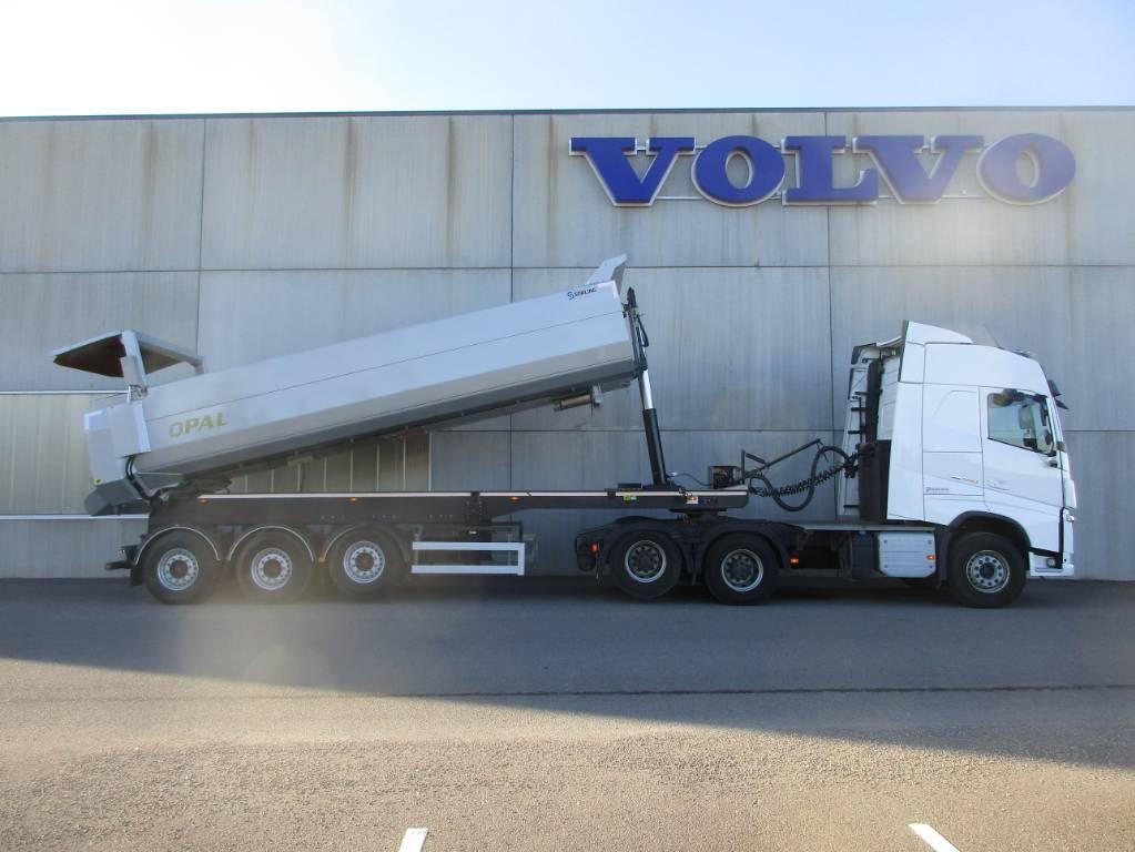 Volvo Tippsemi-sett, Trekkvogner, Transport