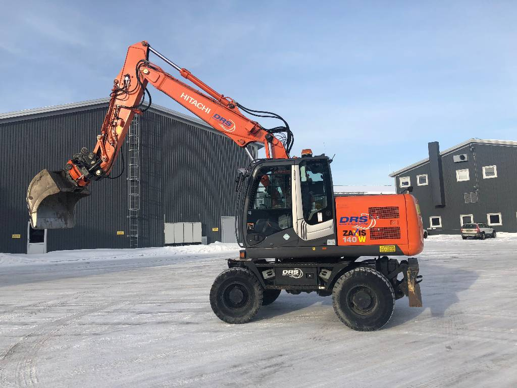 Hitachi ZX 140 W-3/UMEÅ, Wheeled Excavators, Construction Equipment
