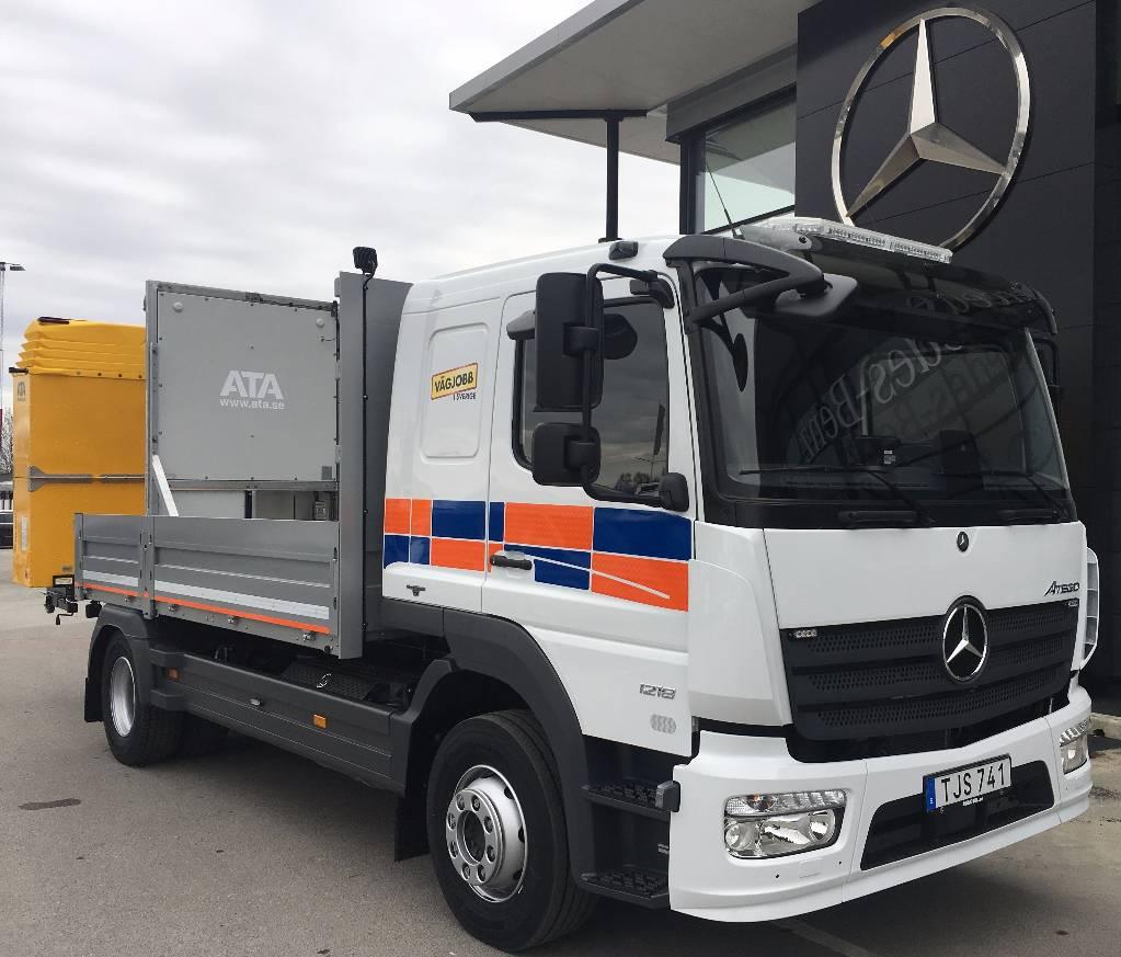 Mercedes-Benz Atego 1218 L TMA Ny, Flakbilar, Transportfordon