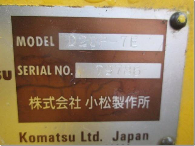 Komatsu D20P-7E, Dozers, Construction