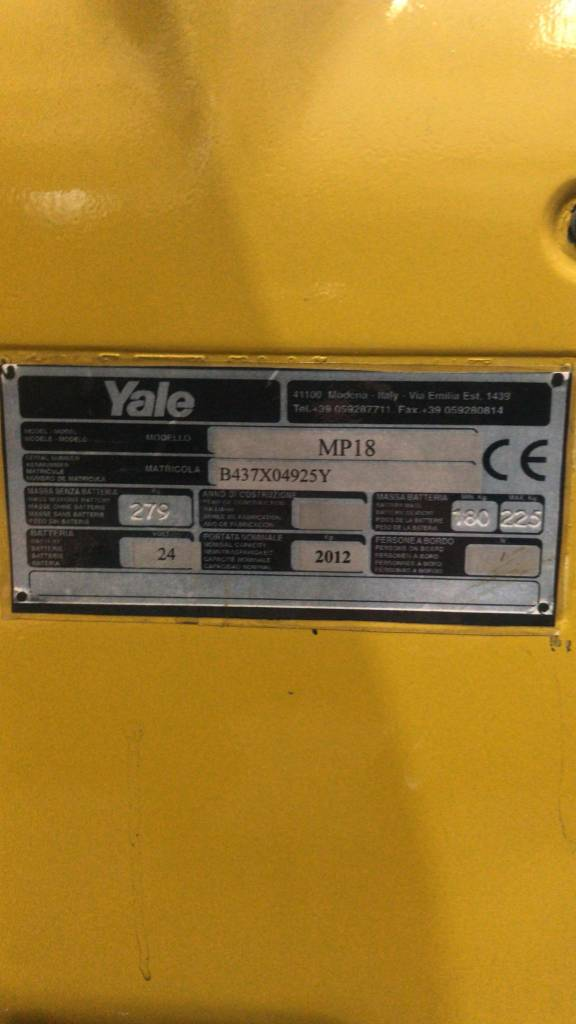 Yale MP18, Low lifter, Material Handling