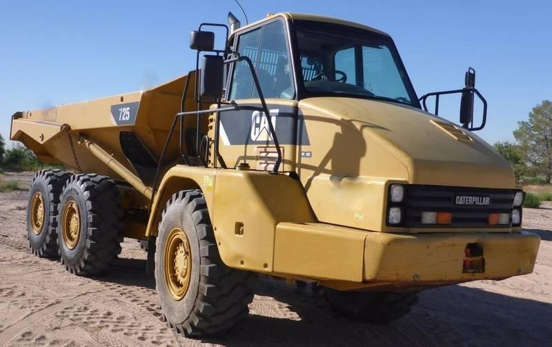 Caterpillar 725, Articulated Dump Trucks (ADTs), Construction Equipment