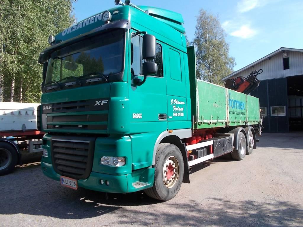 DAF XF105.410 *ASIAKKAAN LUKUUN*, Flatbed Trucks, Trucks and Trailers