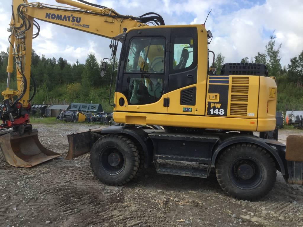 Komatsu PW148-8, Wheeled excavators, Construction