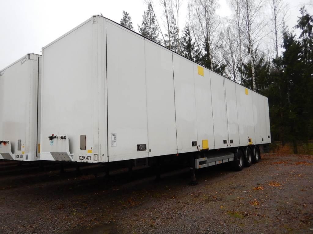 Ekeri KAPELLIKATTOPUOLIPERÄVAUNU, HUCKEPACK, Box body semi-trailers, Transportation
