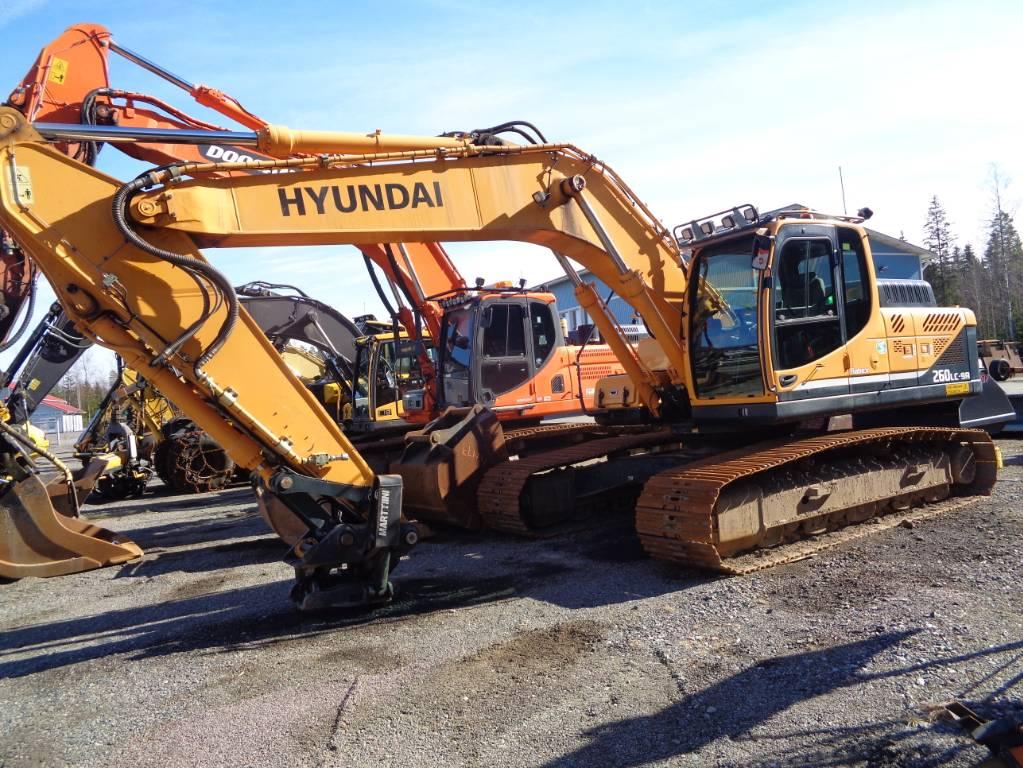 Hyundai Robex 260 LC-9 A, Telakaivukoneet, Maarakennus