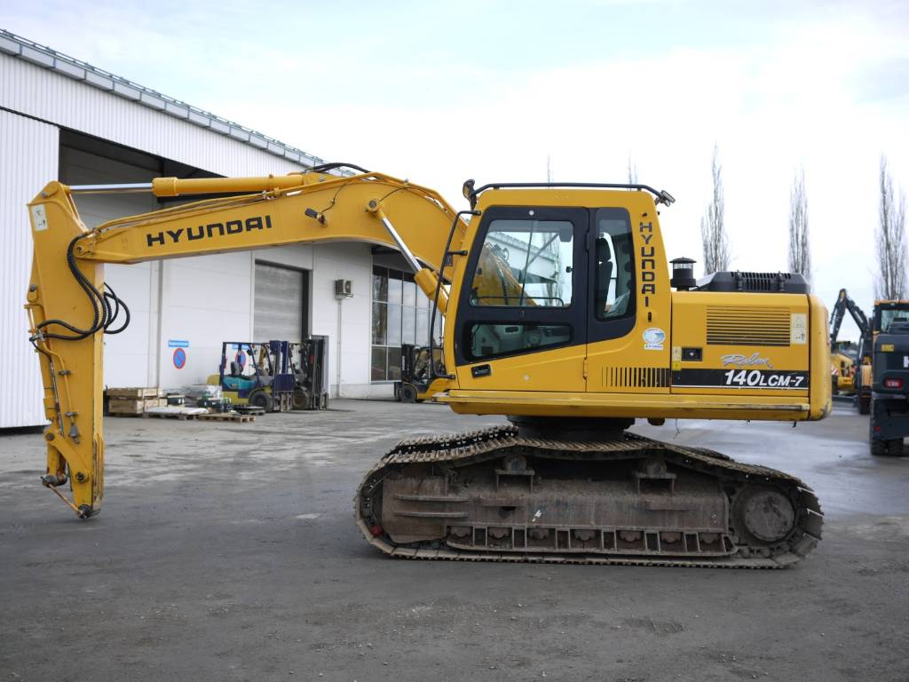 Hyundai R 140 LCM-7, Telakaivukoneet, Maarakennus