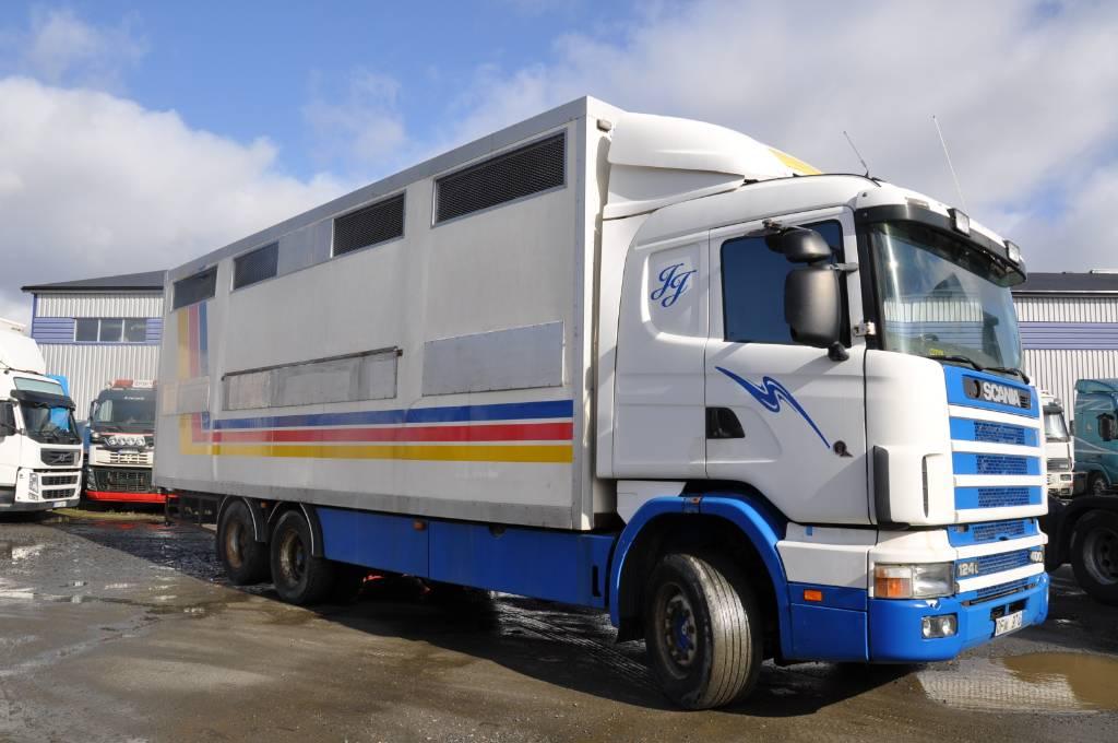 Scania R124 LB6X2NB400, Djurtransporter, Transportfordon
