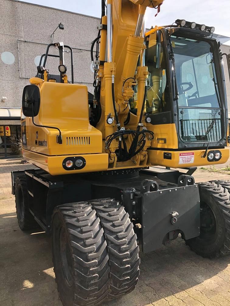 Komatsu PW148-11, Wheeled Excavators, Construction Equipment