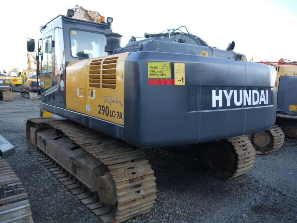 Hyundai R 290 LC-7A, Telakaivukoneet, Maarakennus