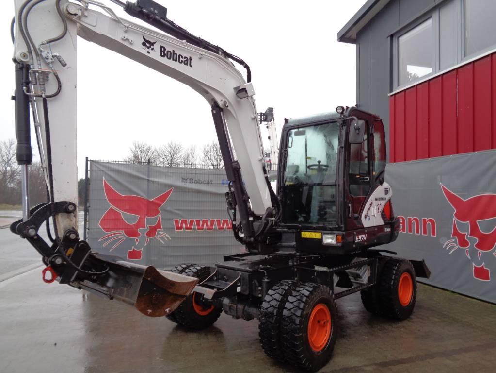 Bobcat E57W, Wheeled Excavators, Construction Equipment