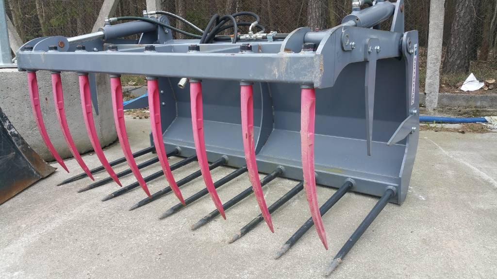KOŁASZEWSKI WIDŁY KROKODYL 1,6m - mocowanie euro, Akcesoria do ładowaczy czołowych, Maszyny rolnicze