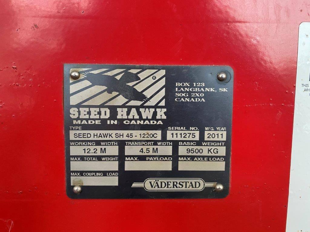 Väderstad SeedHawk SH 45- 1220C, Külvikud, Põllumajandus