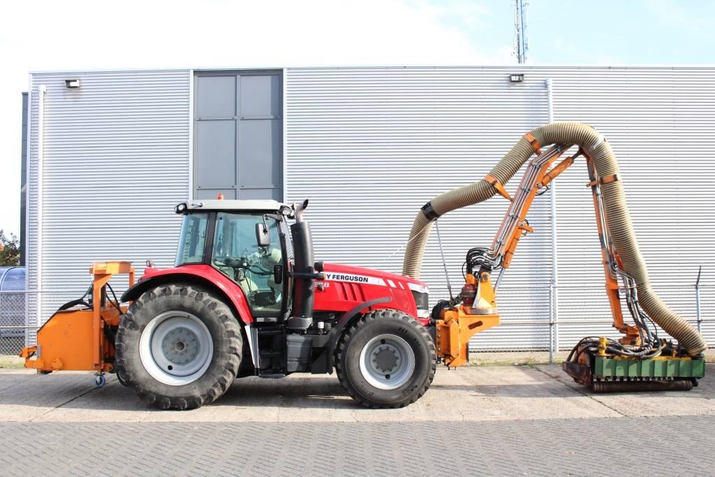 Massey Ferguson 7618 Dyna-6 met Mulag Gödde GFA 700S maaiarm, Tractoren, Landbouw