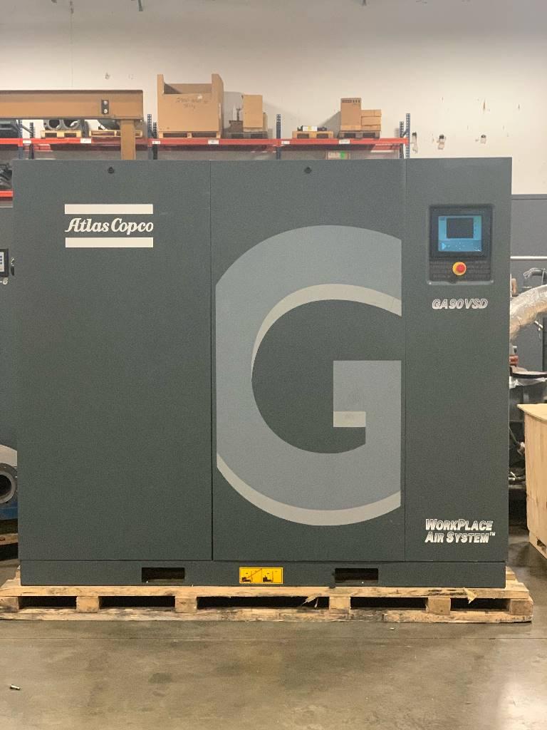 Atlas Copco GA 90VSD, Compressors, Industrial