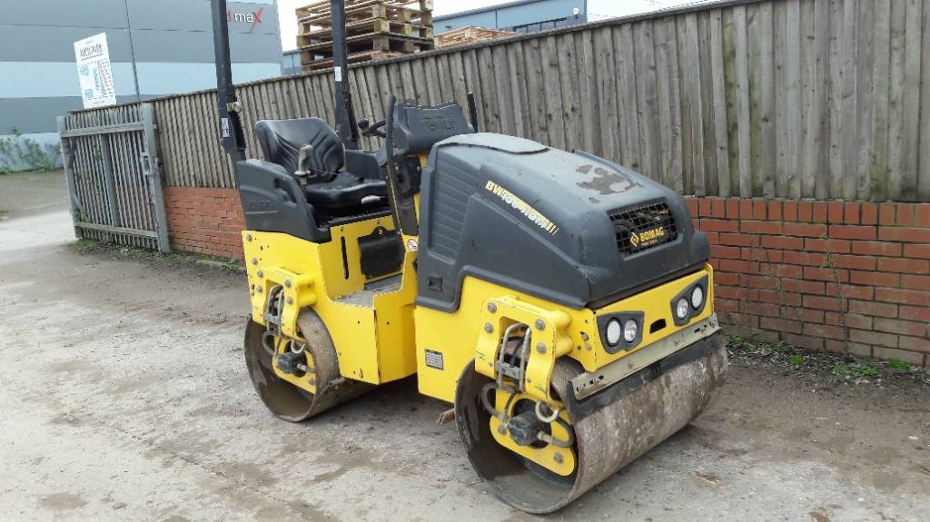 Bomag BW 100, Twin drum rollers, Construction