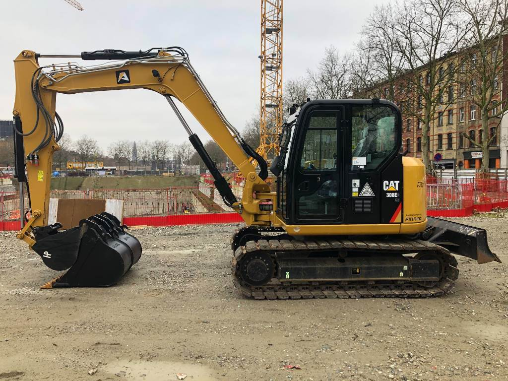 Caterpillar 308 E 2 CR, Crawler excavators, Construction
