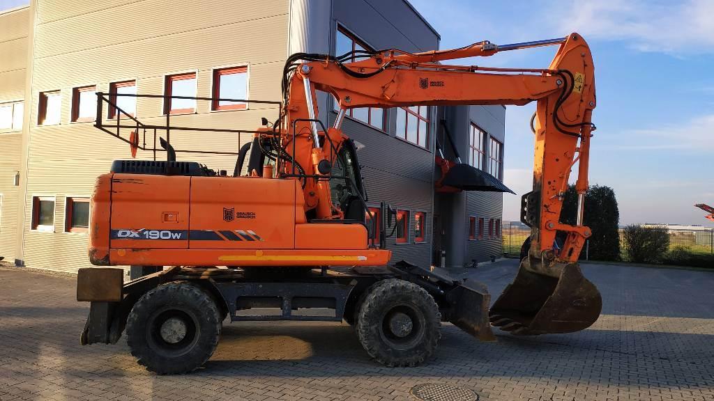 Doosan DX 190 W, Wheeled Excavators, Construction Equipment