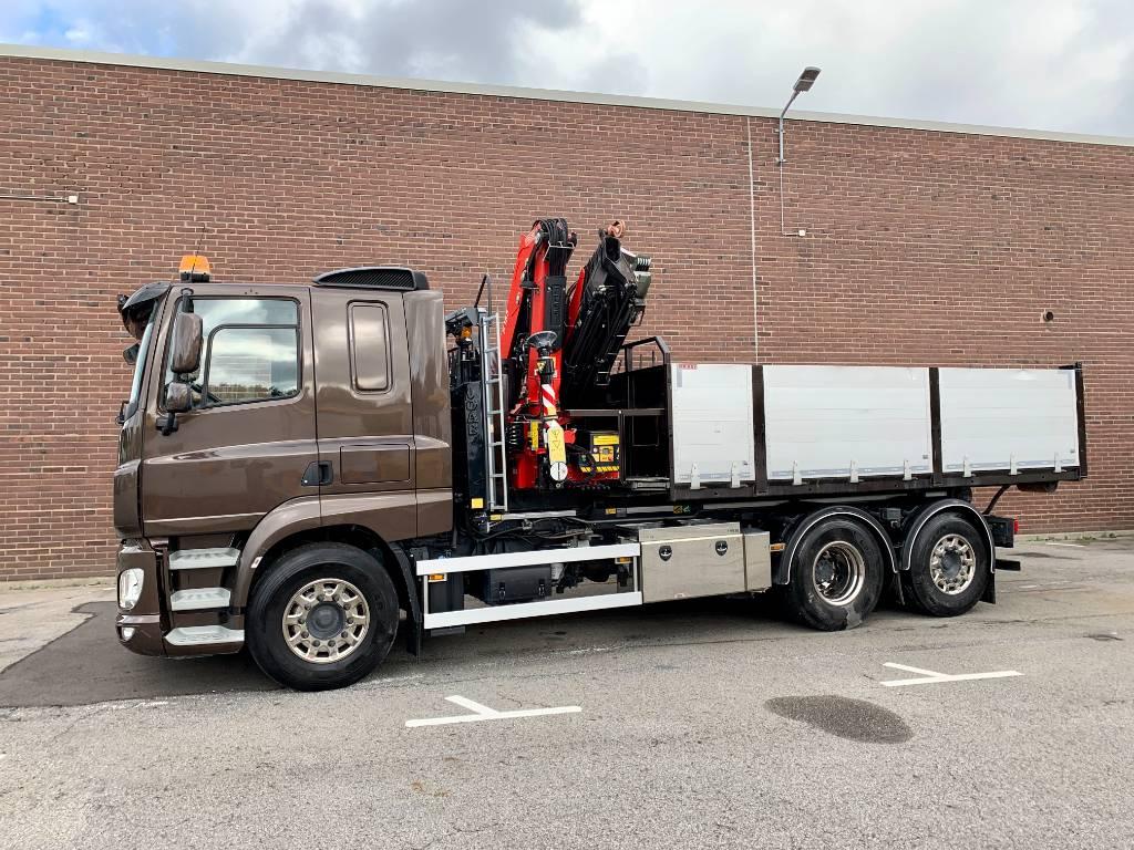 DAF CF 510Z FAN - Lastväxlare med kranflak, Boom / Crane / Bucket Trucks, Trucks and Trailers